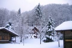 Il villaggio con la Neve
